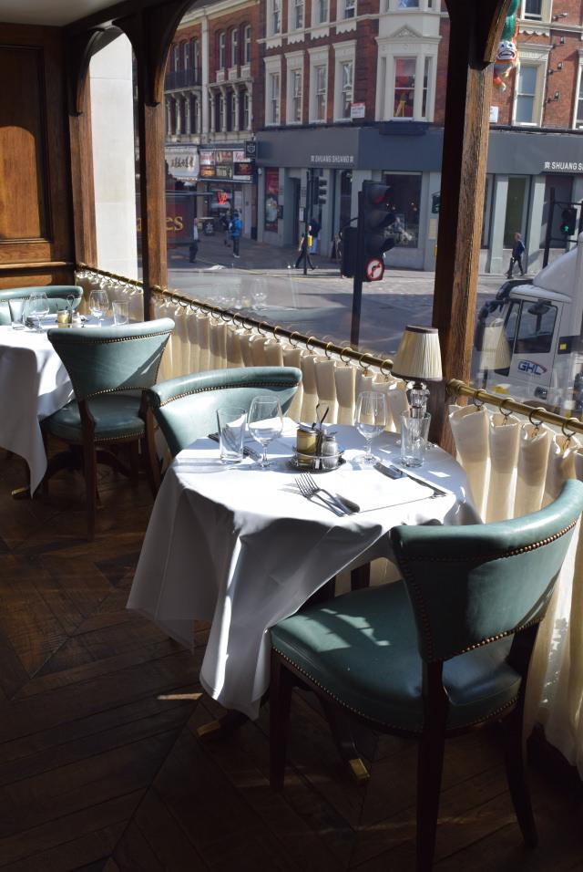 Window Table at Cafe Monico, Soho   www.rachelphipps.com @rachelphipps