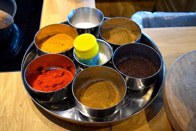 Spices at The Jamie Oliver Cookery School | www.rachelphipps.com @rachelphipps