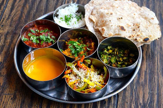 North Indian Thali at the Jamie Oliver Cookery School | www.rachelphipps.com @rachelphipps