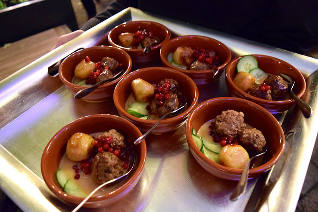 Swedish Meatballs from Red Rooster, Shoreditch at the Observer Food Monthly Awards 2016 | www.rachelphipps.com @rachelphipps