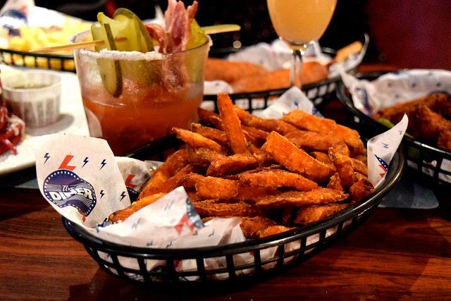 Sweet Potato Fries at The Diner, Soho   www.rachelphipps.com @rachelphipps