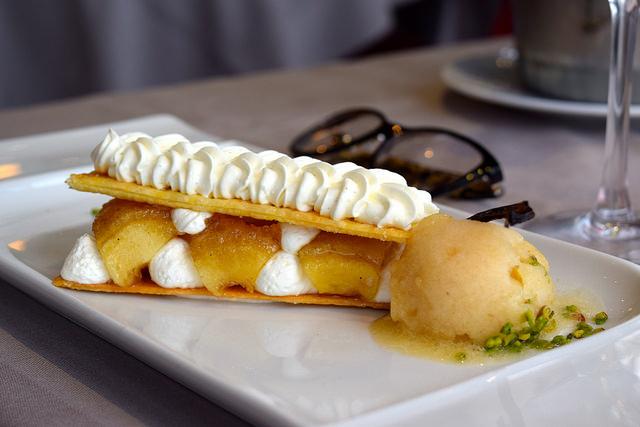 Local Apple Pastry at  La Mere Champlain, Cancale | www.rachelphipps.com @rachelphipps