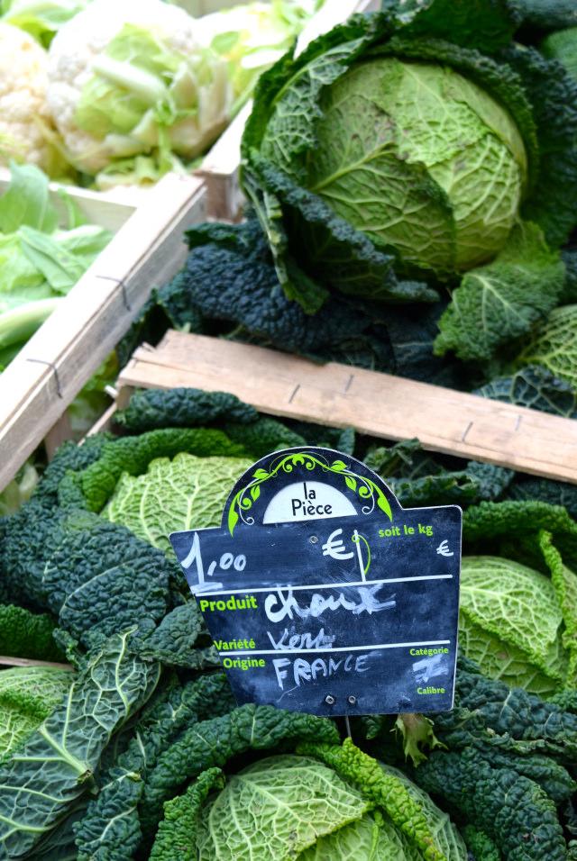 Cabbages at Combourg Market, Brittany | www.rachelphipps.com @rachelphipps