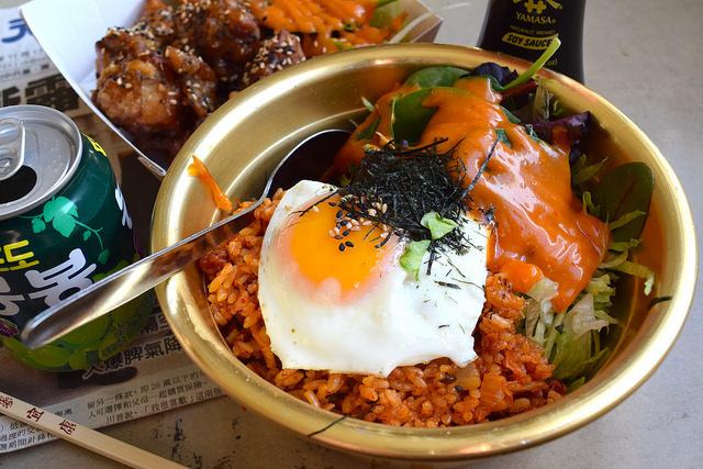 Kimchee Fried Rice at Kyoto, Canterbury   www.rachelphipps.com @rachelphipps