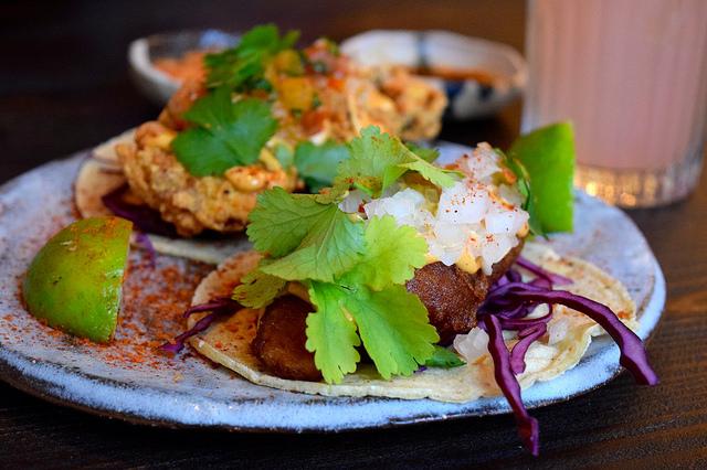 Baja Fish Tacos at Breddos Tacos, Clerkenwell   www.rachelphipps.com @rachelphipps