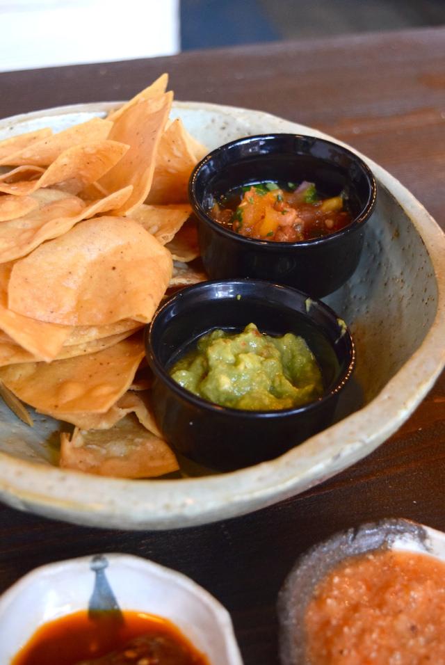 Chips with Salsa & Guacamole at Breddos Tacos, Clerkenwell   www.rachelphipps.com @rachelphipps