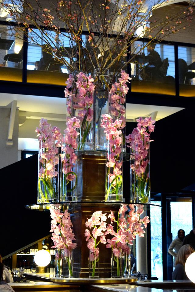 Blossom Centerpiece at German Gymnasium, King's Cross | www.rachelphipps.com @rachelphipps