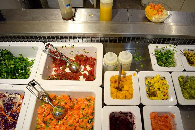 Toppings Bar at Island Poké, Soho | www.rachelphipps.com @rachelphipps