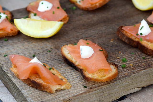 Smoked Salmon Crostini at The Boundary Rooftop, Shoreditch | www.rachelphipps.com @rachelphipps