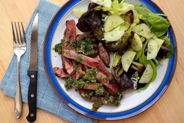 Sliced Steak with Pickled Jalapeño Relish   www.rachelphipps.com @rachelphipps
