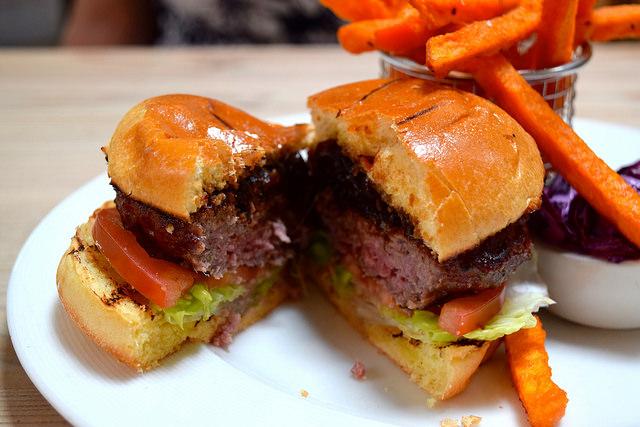 Venison Burger with Onion Chutney at The Granville, Canterbury | www.rachelphipps.com @rachelphipps