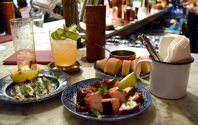 Cocktails and Bar Snacks at Merchant House, The City | www.rachelphipps.com @rachelphipps