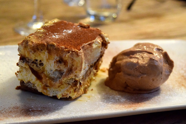 Tirimasu & Chocolate Ice Cream  at The George, Molash | www.rachelphipps.com @rachelphipps