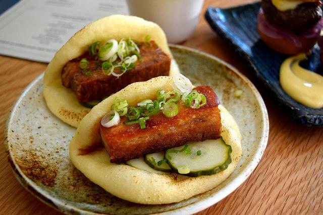Pork Bao at Bo Drake, Soho | www.rachelphipps.com @rachelphipps