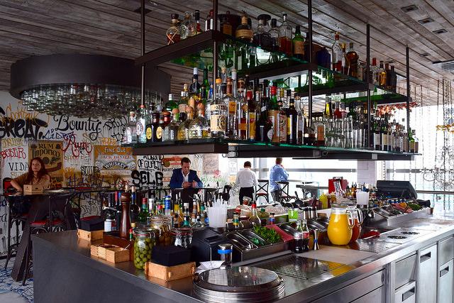 Bar at Duck & Waffle   www.rachelphipps.com @rachelphipps