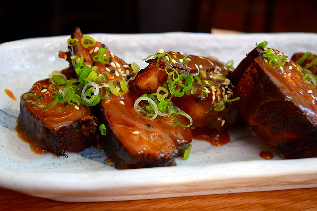 Korean Pork Belly Ribs at Bo Drake, Soho | www.rachelphipps.com @rachelphipps