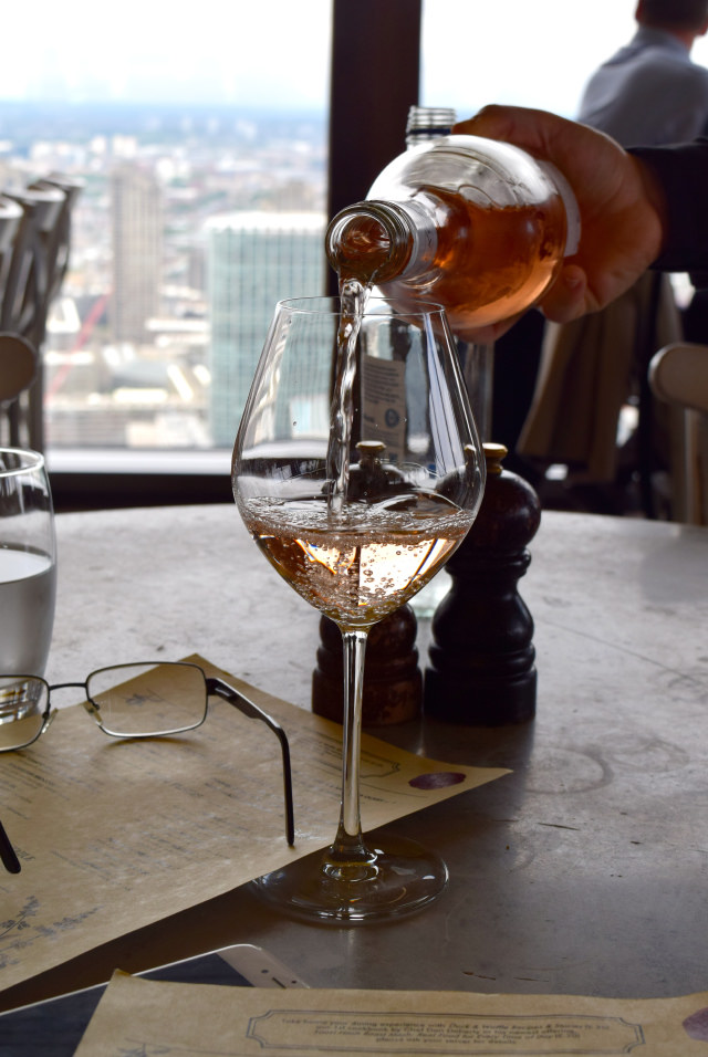 Rose Wine at Duck and Waffle   www.rachelphipps.com @rachelphipps