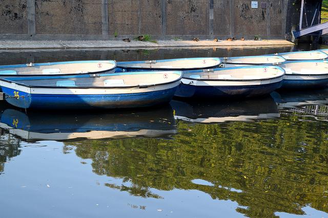 Row Boats on Military Canal, Hythe   www.rachelphipps.com @rachelphipps