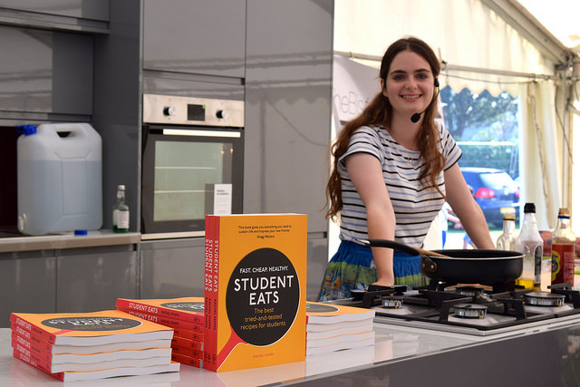 In the Demo Kitchen  at We Love Hythe Food Festival with Student Eats   www.rachelphipps.com @rachelphipps