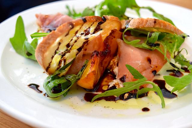 Burrata with Roasted White Peach, Rocket & Speck at Lupins, Borough | www.rachelphipps.com @rachelphipps
