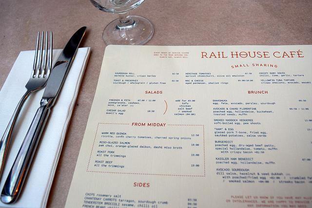 Brunch Menu at Rail House Cafe, Victoria | www.rachelphipps.com @rachelphipps