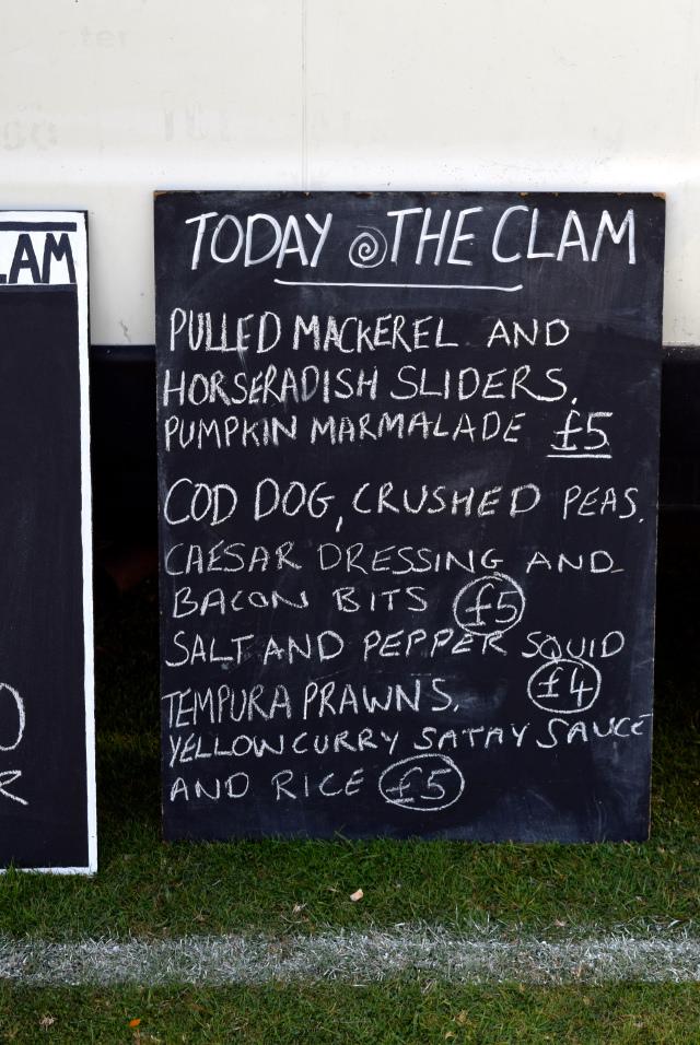 The Clam Menu at Love Hythe Food Festival   www.rachelphipps.com @rachelphipps
