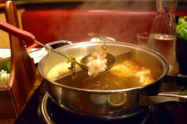 Cooking Squid at Hot Pot, Chinatown | www.rachelphipps.com @rachelphipps