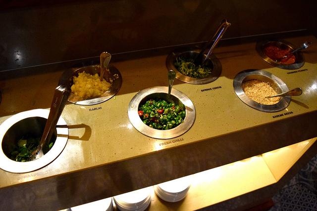 Sauce Station at Hot Pot, Chinatown | www.rachelphipps.com @rachelphipps