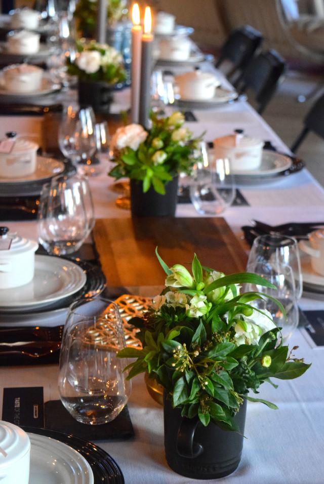 Le Creuset Dinner Table   www.rachelphipps.com @rachelphipps