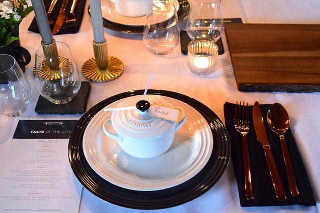 Le Creuset Table Setting   www.rachelphipps.com @rachelphipps