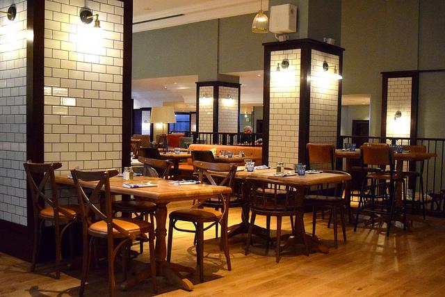 Dining Room at The Pickled Hen, Marylebone   www.rachelphipps.com @rachelphipps