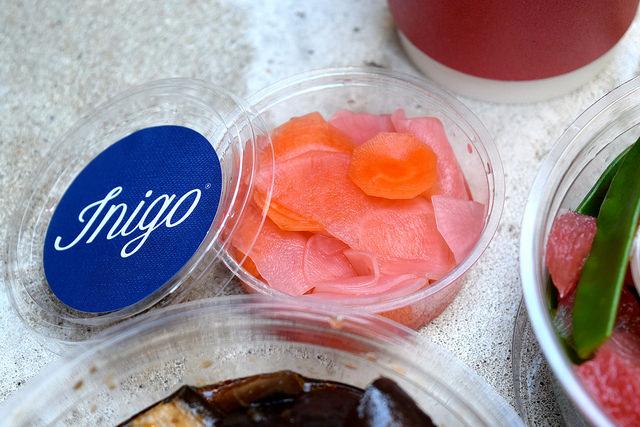 Carrot, Radish & Daikon Pickles from Inigo, Soho #sushi #lunch #london #soho #handrolls   www.rachelphipps.com @rachelphipps