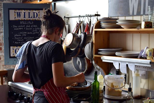 Open Kitchen at Wild Goose, Canterbury #smallplates #wildgoose #thegoodsshed #canterbury   www.rachelphipps.com @rachelphipps