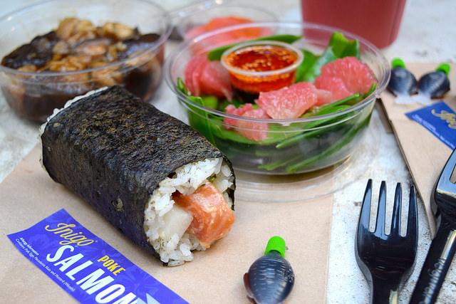 Sushi & Salad Lunch from Inigo, Soho #sushi #lunch #london #soho #handrolls   www.rachelphipps.com @rachelphipps