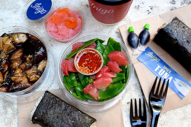 Lunch from Inigo, Soho #sushi #lunch #london #soho #handrolls   www.rachelphipps.com @rachelphipps