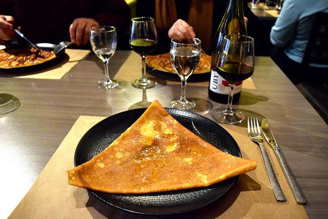 Butter & Sugar Galette at La Cour du Temple, Combourg #crepe #france #brittany