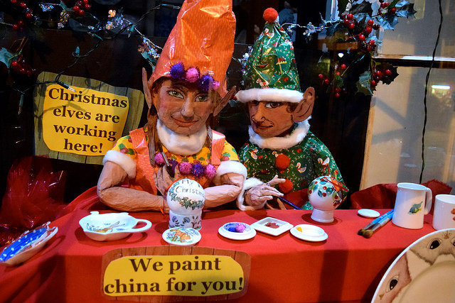 Elves in the Cosmo China Christmas Windows, Canterbury #christmas
