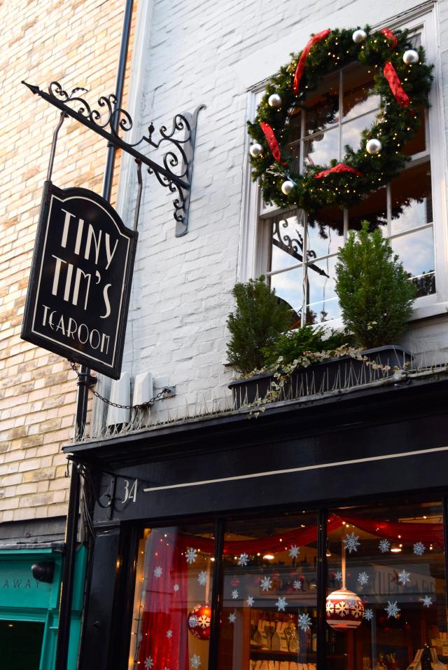 Tiny Tim's Tearoom Christmas Windows, Canterbury #christmas