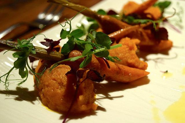 Pureed and Roasted Carrot sat Auberge de la Cour Verte, Dol de Bretagne #carrots #france #brittany