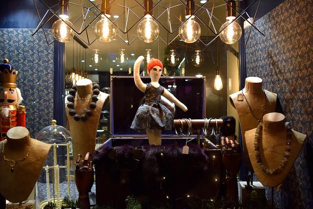 Doll Jewellery Box in Fitzgerald Jewellers Christmas Windows, Canterbury #christmas