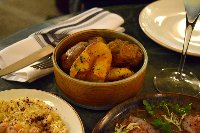 Fried Potatoes with Garlic & Mint at Yosma, Marylebone #mezze #marylebone #london
