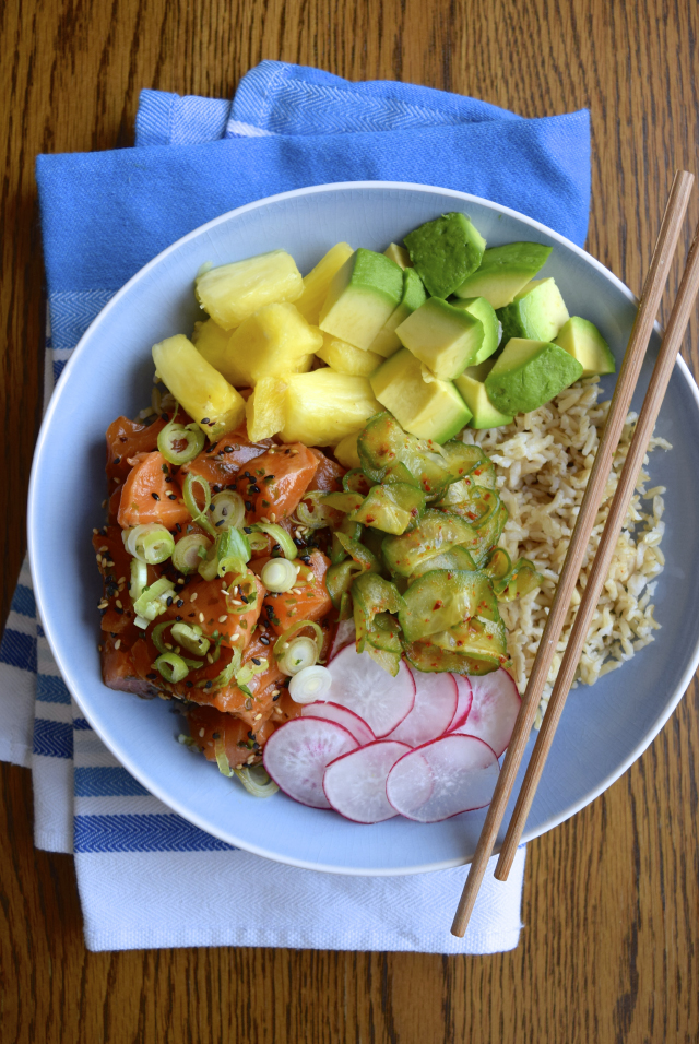 How To Make A Poke Bowl #poké #salmon #fish #healthy