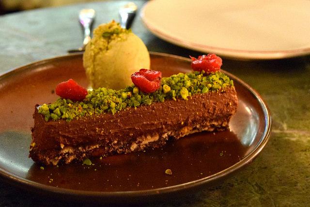 Chocolate Tart at Yosma, Marylebone #mezze #marylebone #london