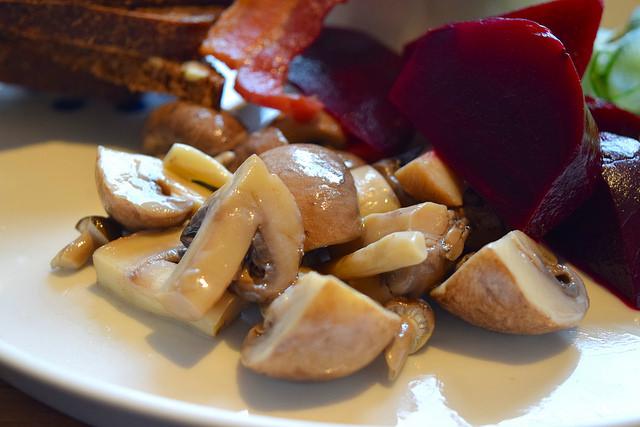 Pickled Mushrooms at Snaps & Rye, Notting Hill #danish #hygge #london