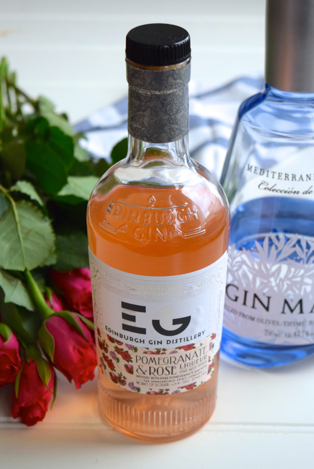 Edinburgh Gin Distillery Pomegranate & Rose Liqueur #ginandtonic #rose #pomegranate #gin #valentinesday