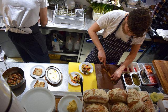 Open Kitchen at Oldroyd, Islington