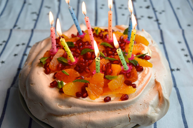 A (Smaller) Winter Citrus Pavlova + 9th Blog Birthday #pavlova #bloodorange #dessert #pomegranate #mint #meringue