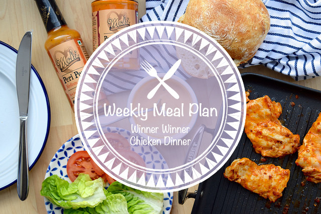 Weekly Meal Plan Winner Winner Chicken Dinner