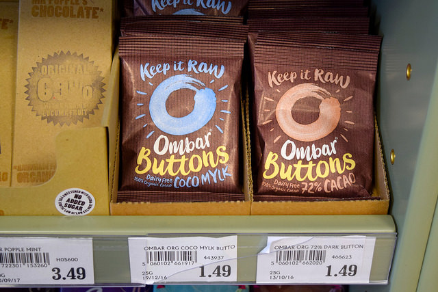 Coconut Chocolate Buttons at Canterbury Wholefoods