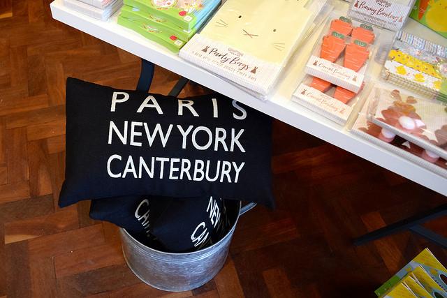 Paris, New York, Canterbury Cushion at Wrapped!, Canterbury